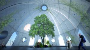 botanischer Humboldt Pavillon von innen