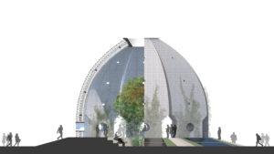 botanischer Humboldt Pavillon von außen